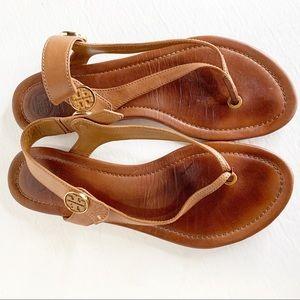 Tory Burch Minnie Travel Thong Sandals Tan